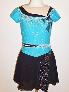 Beautiful Figure Ice Skating Dress Size Custom Made to Fit | eBay