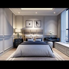 The Honest to Goodness Truth on Elegant Bedroom Design for Small Room - houseinspira Modern Classic Bedroom, Elegant Bedroom Design, Luxury Bedroom Design, Master Bedroom Interior, Modern Master Bedroom, Luxury Home Decor, Home Decor Bedroom, Interior Design Living Room, Modern Classic Interior