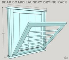 How To Build a DIY Ballard Designs Laundry Drying Rack – Laundry Room İdeas 2020 Laundry Room Drying Rack, Drying Rack Laundry, Clothes Drying Racks, Laundry Closet, Laundry Room Organization, Laundry Room Design, Small Laundry, Basement Laundry, Organizing