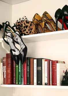 shoe and book shelf... my two loves