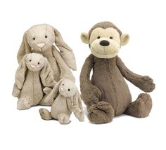 Jellycat just makes the softest, sweetest stuffed animals ever! My daughter sleeps with her Jellycat Bashful Monkey ($19) every night and drags it around a lot of days, but it's still as soft as when she first got it. We recently added a Bashful Bunny