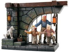 "Pirates of the Caribbean Ride – Jail Scene with Dog - ""Here, Give Us the Keys, ya Scrawny Little Beast!"" Numbered Limited Edition 750	$599"