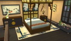 Leander Belgraves - Asian Beds a Sims 3 to Sims 4 Conversion DOWNLOAD...