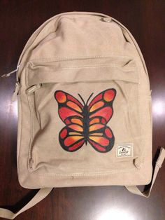 Laptop Backpack Hand Painted with Butterfly on Etsy, $54.99