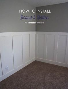 Wood Profits Craftsman Style Board and Batten using all MDF Discover How You Can Start A Woodworking Business From Home Easily in 7 Days With NO Capital Needed! Remodel, Bathrooms Remodel, Board And Batten, Wall Paneling, Home, Home Diy, Style Board, Batten, Home Decor