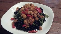 Mar 14: Lotus rice with kale and spicy chickpeas