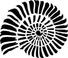 Stencil Schablone Fossil Schnecke