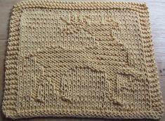 DigKnitty Designs: Prancing Reindeer Knit Dishcloth Pattern
