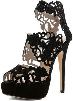 Charlotte Olympia Belinda Platform Bootie Sandal  (black) - Lyst