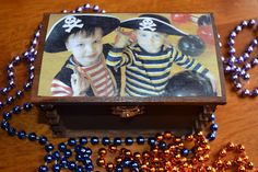 {Mod Podge} {Dollar Store} pirate treasure chest