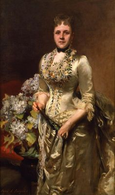 Mrs. Jacob Wendel, by John Singer Sargent, 1888.  New-York Historical Society. Gown with beetlewing embroidery