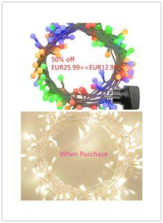 50% Rabatt(Code:EMNV5HTJ)12M 100er Multicolor Globe LED Lichterkette Beim Kauf 100er LED Lichterkette EUR25.99=>EUR12.99(Expired:03/28/2017)