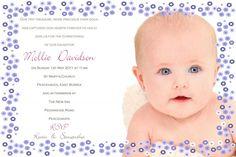 Pink christening invitationgirl christening invitationsphoto ellie photo christening invitation stopboris Images