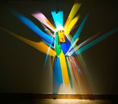 """Artist Creates Prismatic """"Paintings"""" on Museum Walls with Refracted Light - My Modern Met"""