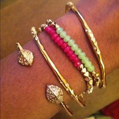 Love the new pink and green Foundation Bracelets
