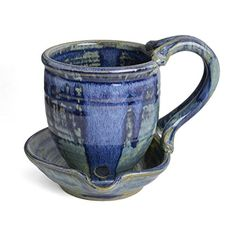 Anthony Stoneware is the pottery of Paul Anthony and Tim Jaqua who work from their studio in Western North Carolina using traditional techniques of wheel-throwing and slab construction. Not only do they mix their own glazes, but the pottery is fired in a gas-fired kiln which they designed and... see more details at https://bestselleroutlets.com/home-kitchen/kitchen-dining/cookware/product-review-for-anthony-stoneware-microwave-bacon-cooker-french-blue/