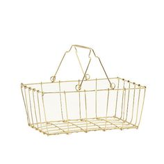 Shiny Gold Wire Basket