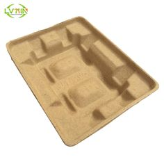 Yellow electronic shockproof inner molded paper pulp packaging