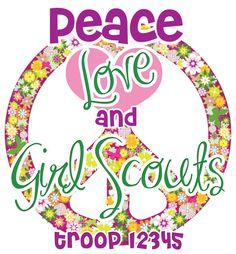 Custom Girl Scout shirts! #girlscouts Girl Scouts