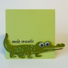 NL Crocodile Stamped Mini Card