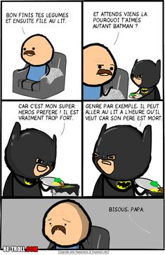 Batman can go to bed at any time – Be Batman – Ideas of Be Batman – Batman can go to bed on time Be-troll humor videos unusual news Quick Jokes, Cyanide And Happiness Comics, Funny Images, Funny Pictures, Crazy Meme, Video Humour, Funny French, Troll Face, Image Fun
