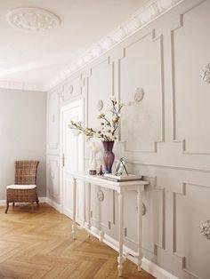 stuck-wand-h - Home Decorations Ideas Art Deco Bedroom, Bedroom Decor, Wall Railing, Stucco Walls, Decorative Mouldings, Wall Molding, Piece A Vivre, Other Rooms, Wall Design
