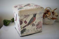 CUTIE DEPOZITARE PLIABILA TABURET BIRDS Chic-Boutique.Net