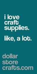 Craft supplies you need via Dollar Store Crafts.
