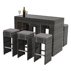 Neilina Gray 7 Piece Patio Set Main Image, 1 Of 8 Images.