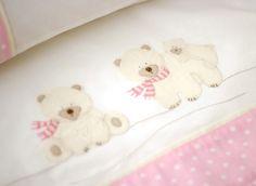 Conjunto Lençóis de berço Ursa Polar