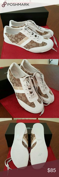 Coach Sneakers. Size 8.5 Authentic Coach Logo Sneaker. Brand new. Never worn. Box included. Coach Shoes Sneakers