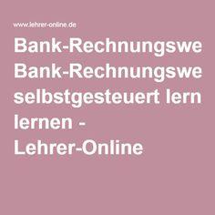 Bank-Rechnungswesen selbstgesteuert lernen - Lehrer-Online