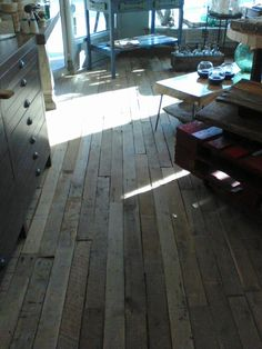 Shipping pallet floor might do this over existing bedroom floor sheryl check these pallet wood floors at anthropologiewe need to go solutioingenieria Image collections