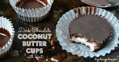 Dark Chocolate Mint Coconut Butter Cups | stupideasypaleo.com