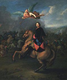"""El zar Pedro I """"El Grande"""" victorioso en Poltava. Más en www.elgrancapitan.org/foro"""