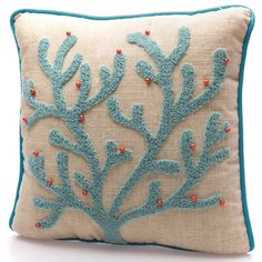 Coral Pillows, Throw Pillows, Punch, Coastal, Collections, Shopping, Bricolage, Toss Pillows, Cushions