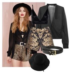 """""""Untitled #6"""" by whoisashleigh ❤ liked on Polyvore featuring IRO, Boohoo, Alice + Olivia, Lauren Ralph Lauren and Sans Souci"""