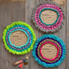 Wheel Covers - Bright and colorful steering wheel covers make dr., Fringe Steering Wheel Covers - Bright and colorful steering wheel covers make dr., Fringe Steering Wheel Covers - Bright and colorful steering wheel covers make dr. Car Accessories For Girls, Vehicle Accessories, Wrangler Accessories, Cute Cars, Textiles, Car Wheels, Natural Life, Car Car, Inspirational Gifts