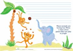 Worksheets: Jungle Story Starter