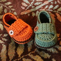 Little Button Loafers (baby booties)