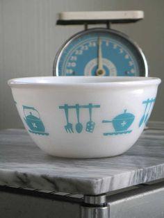 Vintage Hazel Atlas Kitchen Aids Mixing Bowl