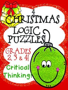 I have created 4 Christmas themed logic puzzles that would be appropriate for logic puzzle beginners.