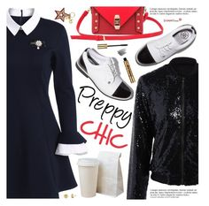 """""""Preppy Chic"""" by pokadoll ❤ liked on Polyvore featuring See by Chloé, Anja, Bobbi Brown Cosmetics, polyvoreeditorial and polyvoreset"""