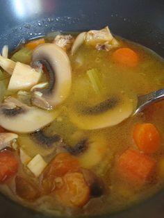 Homemade chicken soup ...