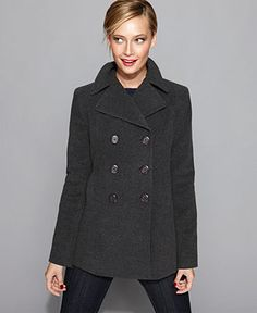 City Chic Trendy Plus Size A-Line Peacoat | macys.com | CLOTHES