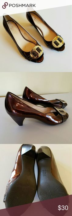 Bronze Franco Sarto NWOT NWOT,  bronze leather with peep toe Franco Sarto Shoes Heels