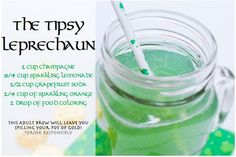 The Tipsy Leprechaun is a green St. Patty's Day Cocktail! Perfect for a St. Patricks Day party!