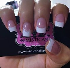 Cool, Pretty Nails, My Nails, Manicure, Nail Designs, French, Beauty, Ideas, Fingernails Painted