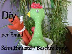 DIY   Beutelhuhn  Schnittmuster per Email von Burgelfe1 auf DaWanda.com