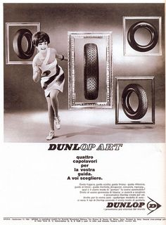 pubblicità - anni 60s - dunlop by sonobugiardo, via Flickr